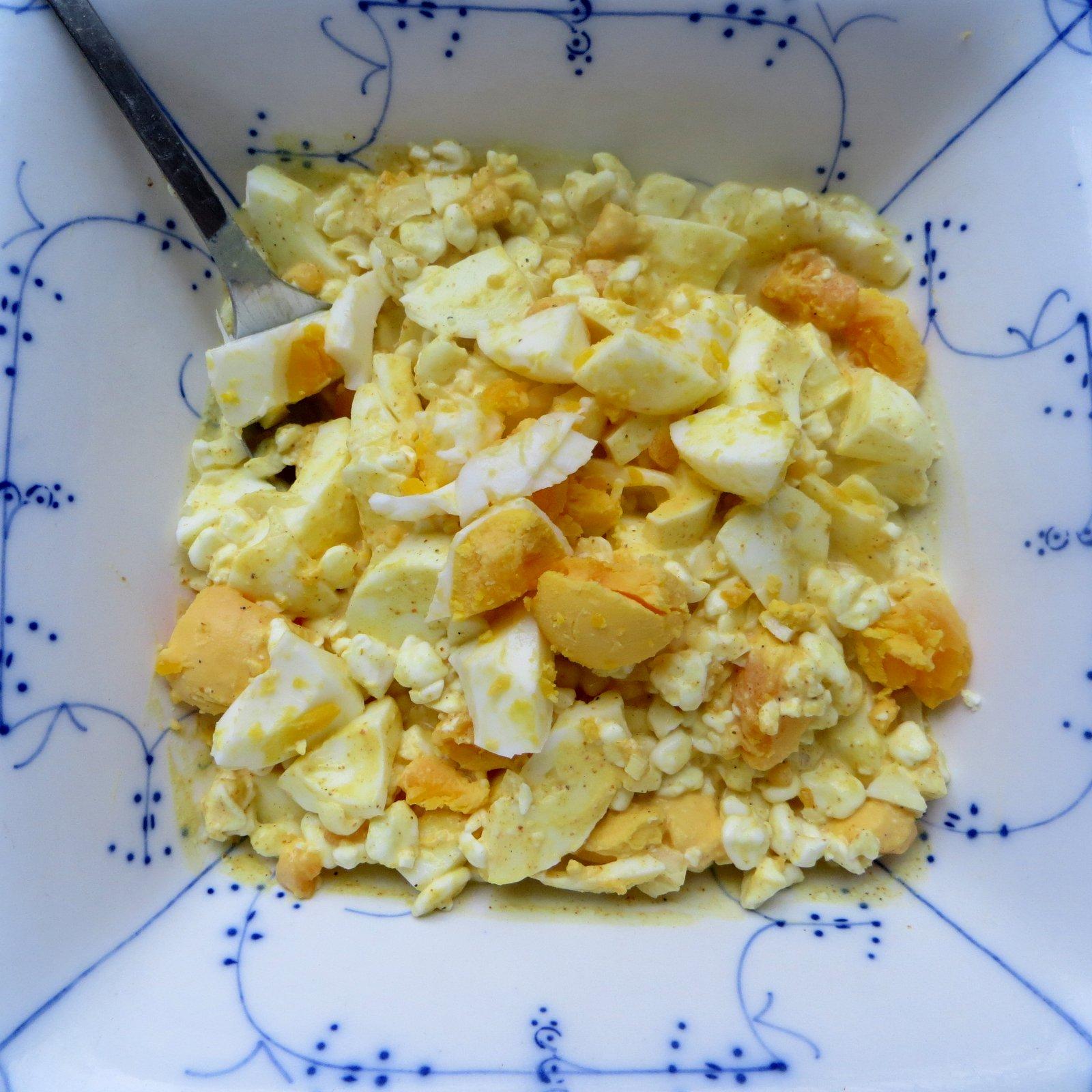 æggesalat med hytteost